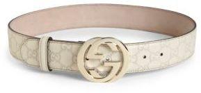 Gucci Interlocking G Buckle Belt $390 thestylecure.com