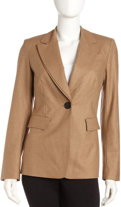 Lafayette 148 New York Double-Collar Jacket, Teame