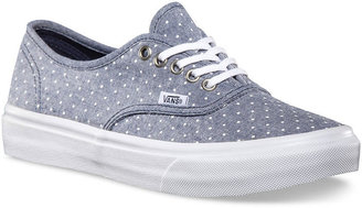 Vans Chambray Dots Authentic Slim Womens Shoes