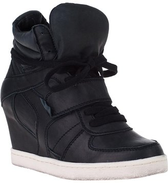 Ash Cool Ter Wedge Sneaker Black Leather