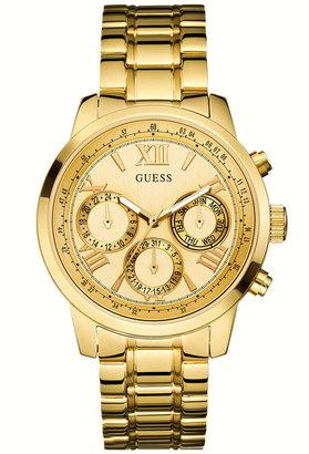 GUESS Women's Gold-Tone Stainless Steel Bracelet Watch 42mm U0330L1 $125 thestylecure.com