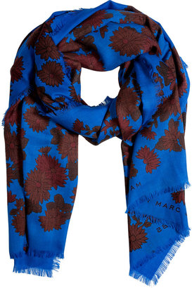 Marc by Marc Jacobs Neptune Blue-Multi Onyx Floral Scarf