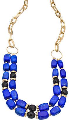 K. Amato Lapis Double Strand Bead Chain Necklace