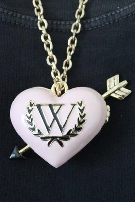 Wildfox Couture Jewelry Heart Locket Necklace with Pearls & Charms in Gold