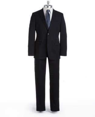 DKNY Modern Fit Wool Two-Button Flat-Front Suit