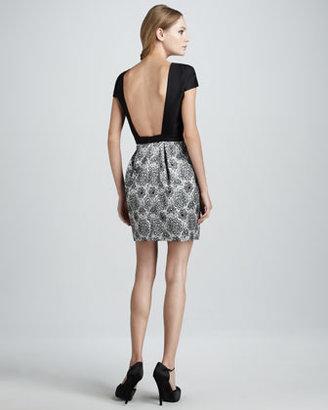 Tibi Open-Back Print Dress