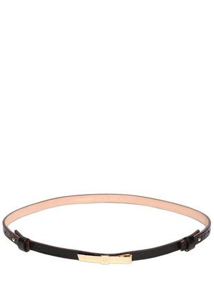 DSquared 10mm Embossed Leather Belt With Bow