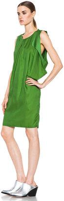 Acne Studios Marnay Lyocell-Blend Fluid Dress in Emerald Green