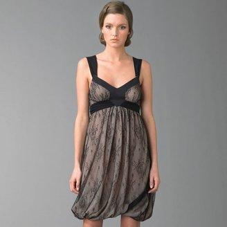 Galliano Chantilly Lace Bubble Mini Dress