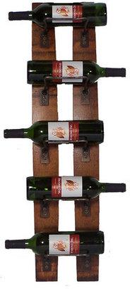 2 Day 5 Bottle Wall Mounted Wine Rack