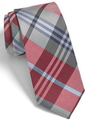Men's The Tie Bar 'Crystal Wave' Silk & Linen Plaid Tie $19 thestylecure.com