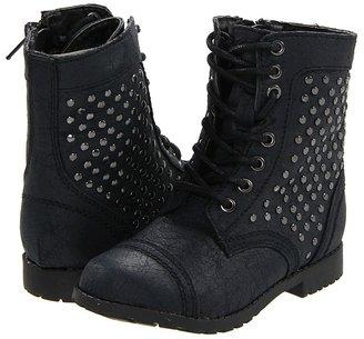 Steve Madden Kommitt (Toddler) (Black) - Footwear