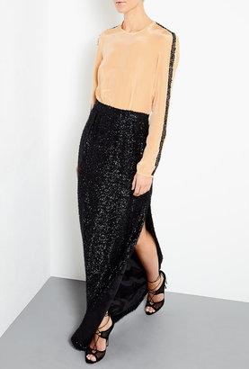 Malene Birger Enidun Maxi Dress With Textured Skirt