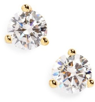 Women's Nordstrom Round 0.50Ct Cubic Zirconia Earrings $38 thestylecure.com