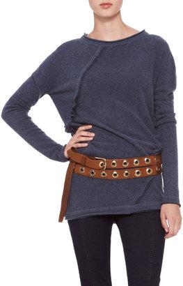Donna Karan Double-Wrap Grommet Belt, Luggage