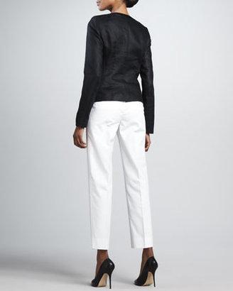 Lafayette 148 New York Neve Linen Jacket, Black