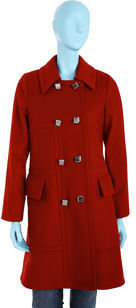 Marc by Marc Jacobs Double Breasted Jacket- Red