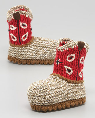 Artwalk Art Walk Crocheted Cowboy Boot, Red