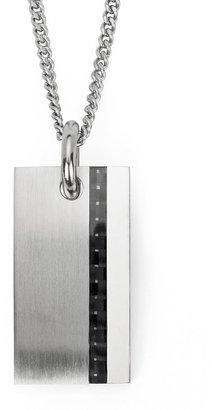 Stainless Steel Carbon Fiber Pendant - Men