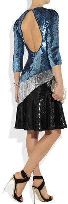 Jonathan Saunders Jerri sequined crepe de chine dress