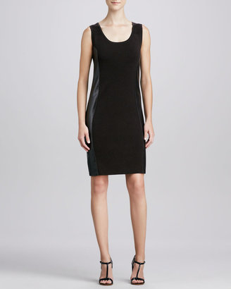 Carmen Marc Valvo Carmen by Side-Panel Combo Sheath Dress