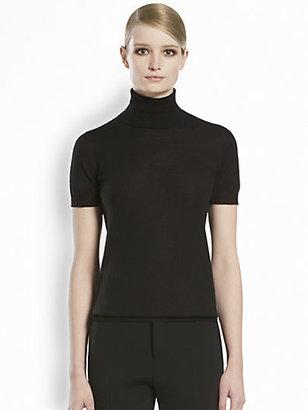 Gucci Cashmere Short-Sleeve Turtleneck