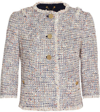 Tory Burch Emma cropped bouclé-tweed jacket