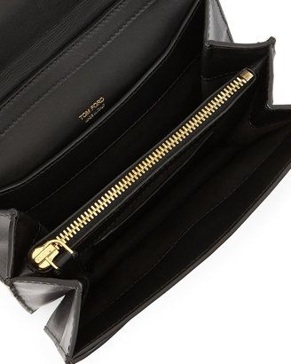 Tom Ford Small Hidden-TF Crossbody Bag, Black