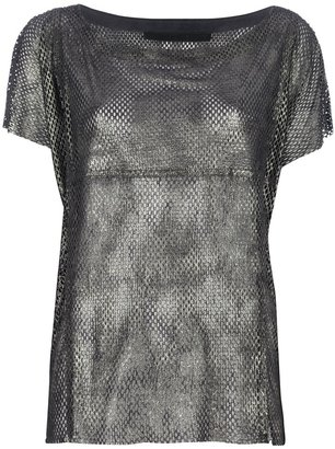 Drome perforated lambskin t-shirt