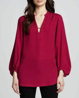 Diane von Furstenberg Tanyana Long-Sleeve Silk Blouse