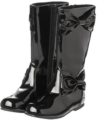 Gymboree Bow Patent Boots