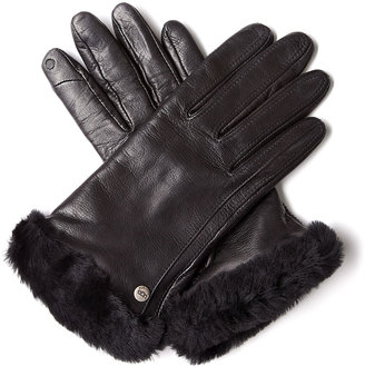 UGG Classic Black Leather Smart Gloves