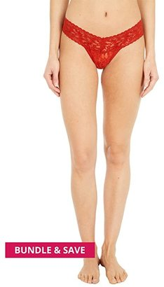 Hanky Panky Signature Lace Low Rise Thong (Marshmallow) Women's Underwear