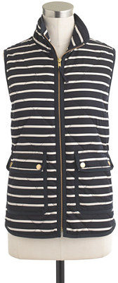 J.Crew Excursion quilted vest in stripe