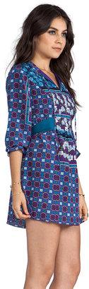 Anna Sui Scherazade Panel Print Crepe De Chine Dress