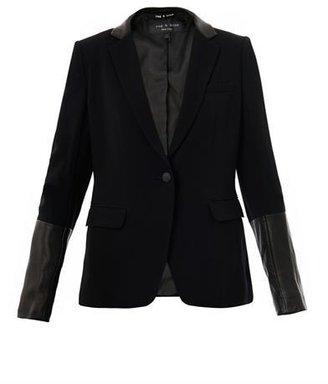 Rag and Bone Rag & Bone Leather trimmed timeless blazer