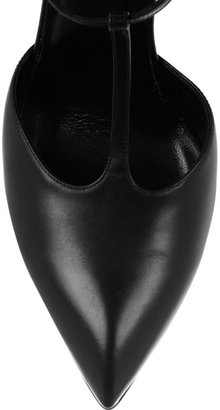 Saint Laurent Pointed leather Mary-Jane pumps