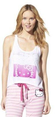Hello Kitty Juniors Sleep Tank Top - White
