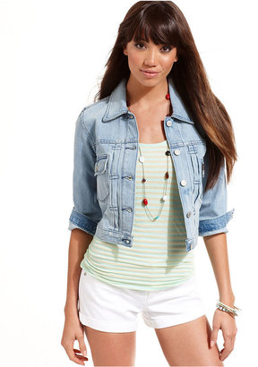 Levi's Jacket, Cropped Trucker Denim Jacket