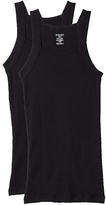 2xist 2-Pack ESSENTIAL Square-Cut Tank (Black) Men's Underwear