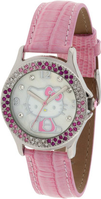 Hello Kitty Pink Crystal-Accent Watch $50 thestylecure.com