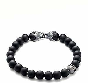 David Yurman Men's Spiritual Bead Bracelet/Onyx & Diamond