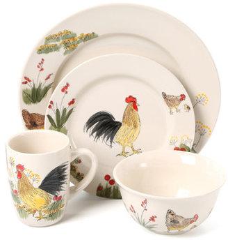 Paula Deen Southern Rooster 16-Piece Dinnerware Set