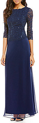 Alex Evenings Sequined Lace & Chiffon Gown $169 thestylecure.com