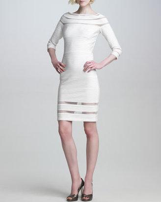Tadashi Shoji Pintuck Illusion-Detail Dress