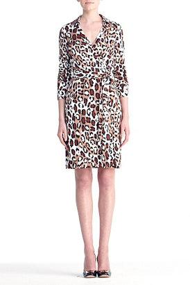 Diane von Furstenberg Limited Edition New Jeanne Two Dress In Vintage Leopard Nude