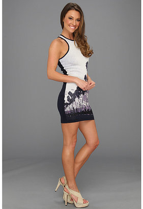 Juicy Couture Sunset Palms Jacquard Dress