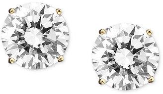 Crislu Earrings, 18k Gold over Sterling Silver Cubic Zirconia Round Stud Earrings (6 ct. t.w.)