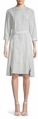 Max Mara Striped Cotton Shirtdress