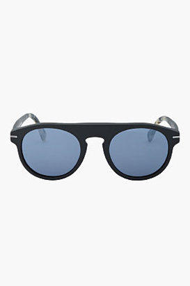 Super Matte black hand made Racer sunglasses